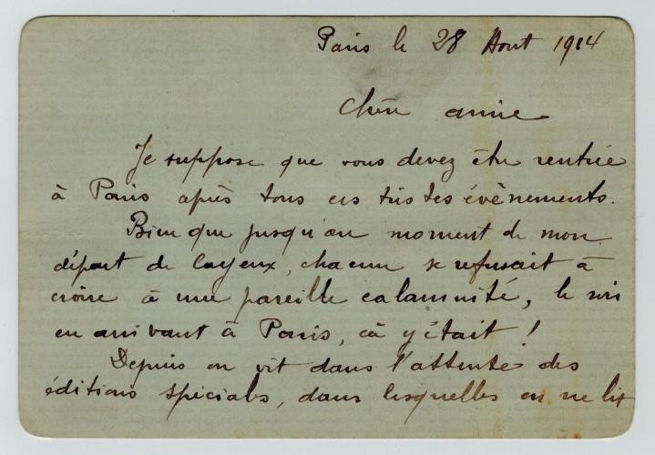 Lettre de Marcel