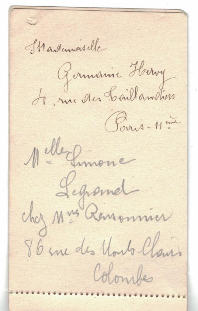 Extrait de l'annuaire de Germaine