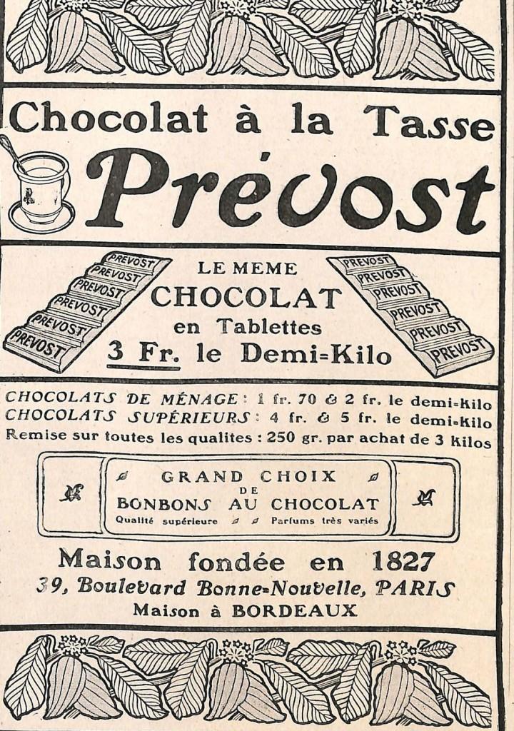 chocolat prevost