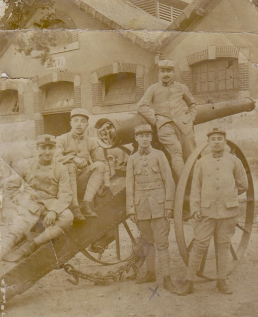 Henri Clochez, au centre, en 1918