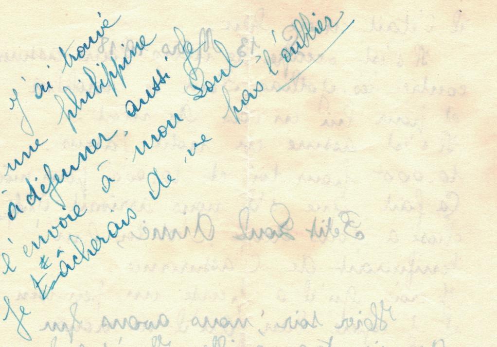 Papier à lettre taché d'huile