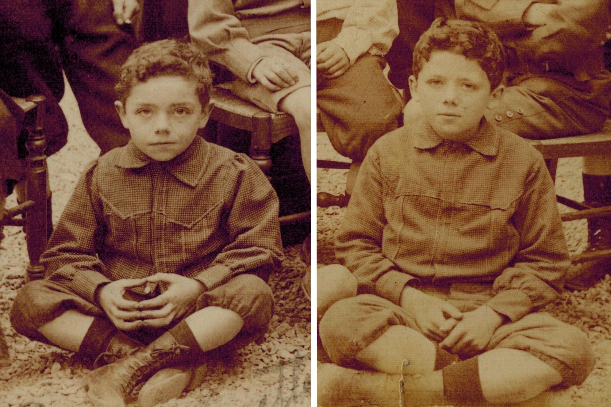 Pierre et Lucien (photos de classe de 1903). Lequel est le plus mignon ?