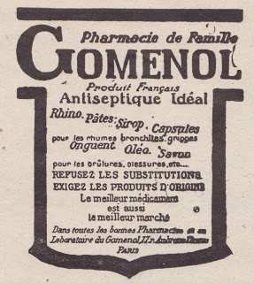 Gomenol (Mode illustrée magazine avril 1924)