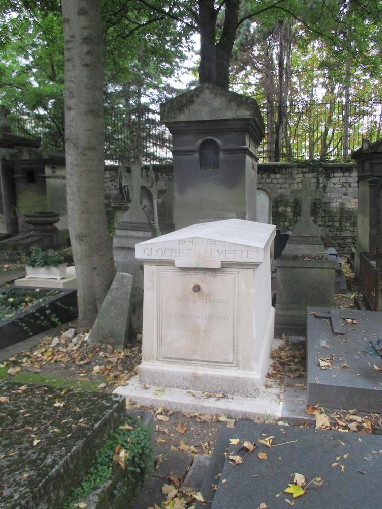 Sépulture Sevette, où sont inhumés les grands-parents paternels de Lucien (Cimetière du Père-Lachaise)